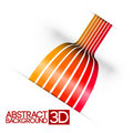 Abstract 3d red  background Royalty Free Stock Photography