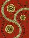 Abstraktné domorodý umenie