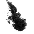 Abstract acrylic black paint Royalty Free Stock Photo
