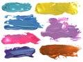 Abstract acrylic brush strokes blots Royalty Free Stock Photo