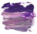 Abstract acrylic brush strokes blots isolated Stock Photos