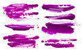 Abstract acrylic color brush strokes blots. Isolated.
