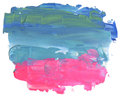 Abstract color acrylic brush strokes paint. Isolated frame.