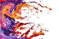 Abstract acrylic paint splash background Royalty Free Stock Photo