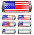 Abstract america battery Royalty Free Stock Photo
