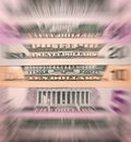 Abstract american dollars background or texture money. Royalty Free Stock Photo