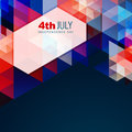 Abstract american independence day vector style design Stock Image