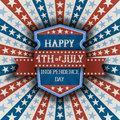 Abstract american patriotic background with shield