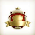 Abstract ancient coat arms computer illustration white background Royalty Free Stock Photography