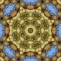 Abstract angular field of flowers in circular arrangement at wedding in California