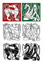 Abstract animals in celtic style for religion or tattoo design Stock Image
