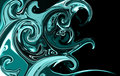 Abstract aqua curly waves Royalty Free Stock Image