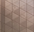 Abstract architectural metal texture of element with triangular pattern Royalty Free Stock Image