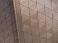 Abstract architectural metal texture of element with triangular pattern Stock Photo