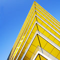 Abstract architecture against beautiful blue sky Stock Images