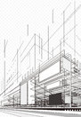 Abstract Architecture Plan Royalty Free Stock Photo