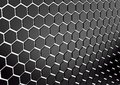 Abstract array of shinny black polygons. 3d render