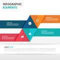 Abstract arrow business Infographics elements, presentation template flat design vector illustration for web design set Royalty Free Stock Photo