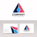 Abstract arrow sign pointer icon triangle logo vector design
