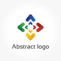 Abstract arrows, vector logo template, direction design element Royalty Free Stock Photo