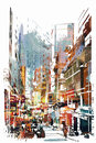 Abstract art of cityscape Royalty Free Stock Photo
