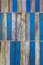 Abstract art color wood wall yellow blue shallow deep of field Royalty Free Stock Photo