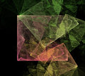 Abstract art cubic space elegant fractal design Stock Photography