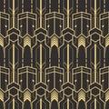 Abstract art deco modern tiles pattern