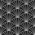 Art deco retro Gatsby scales seamless pattern Royalty Free Stock Photo