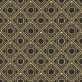 Abstract art deco pattern cube