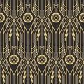 Abstract art deco techno seamless pattern Royalty Free Stock Photo