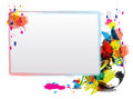 Abstract art design with frame Stock Photos