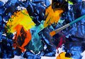 Abstract art painting with acrylic colors.