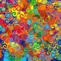 Abstract art rainbow circles swirl colorful pattern music grunge background Royalty Free Stock Photo