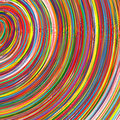 Abstract art rainbow curved lines colorful background illustration Stock Photos