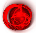 Abstract art red heart. Royalty Free Stock Images