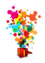 Abstract artistic anniversary celebration Stock Photo