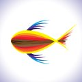 Abstract & artistic colorful fish in blue waters Stock Photos