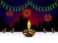 Abstract artistic diwali background Royalty Free Stock Image