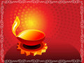 Abstract artistic diwali background with border Stock Photography