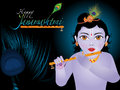 Abstract artistic janamashtmi background
