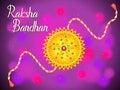 Abstract artistic raksha bandhan background