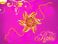 Abstract artistic raksha bandhan rakhi