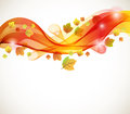 Abstract autumn background with wave Royalty Free Stock Photos