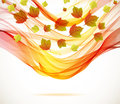 Abstract autumn background with wave Royalty Free Stock Images