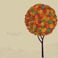 Abstract Autumn Tree Illustrat...