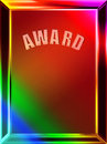 Abstract award background colorful of frame with copy space Stock Photo