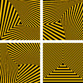 Abstract backdrops set striped triangles textures vector art Stock Photos