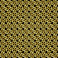 Gold pattern pattern with a black background as an abstract background