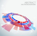 Abstract background with 3D red and blue object Royalty Free Stock Photo